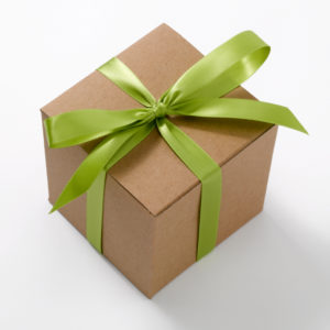 gift package with ribbon