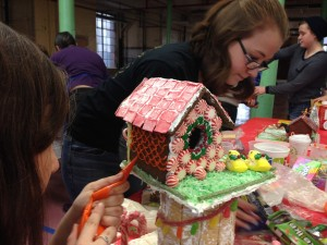 Shrek-zilla bird house assembly
